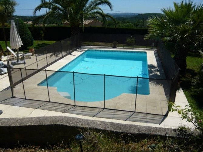 Aquanov barri re filet de s curit pour piscine - Barriere piscine amovible ...
