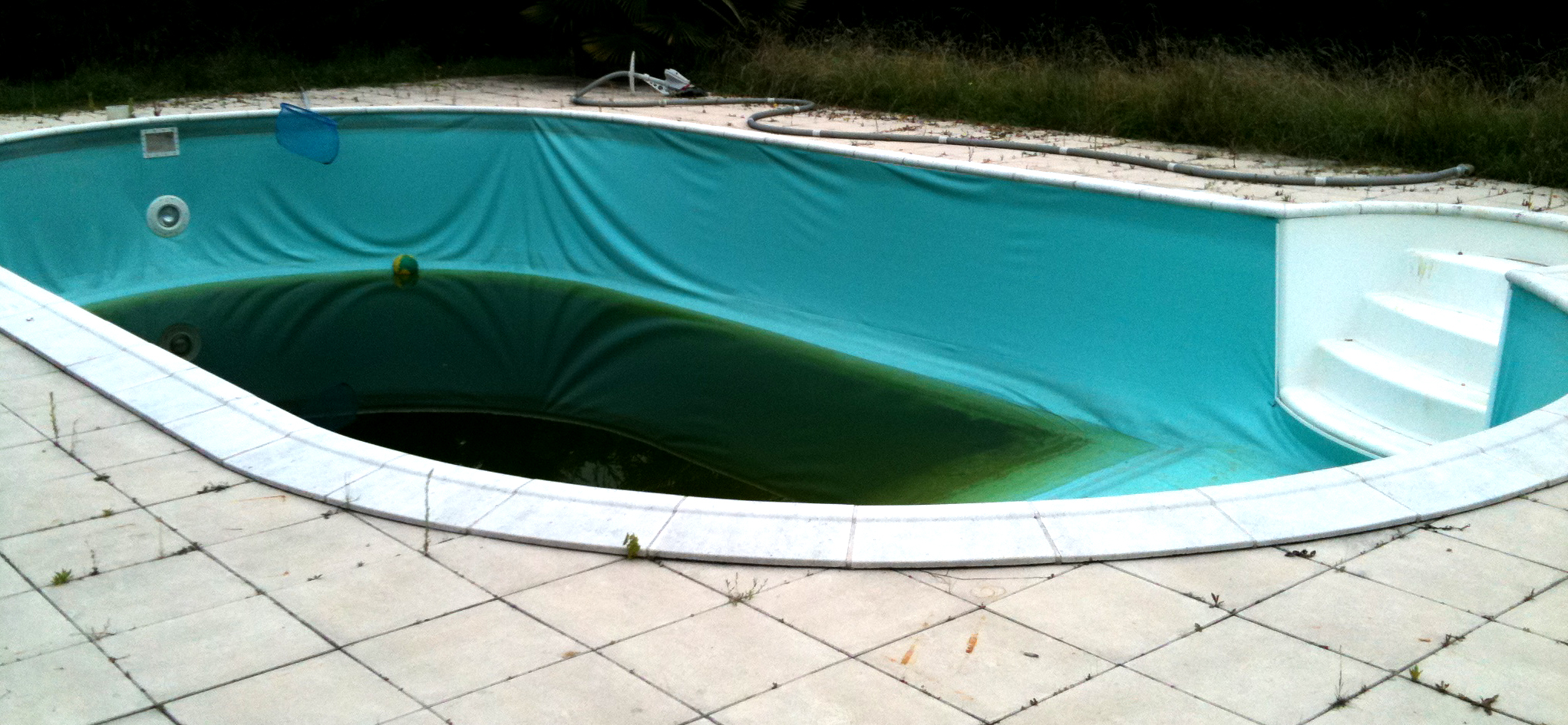 R novation d une piscine waterair - Piscine inox sans liner ...